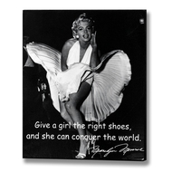 Marilyn  Monroe  -  Right  Shoes  Plaque