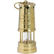 Medium Solid Brass Miners Lamp