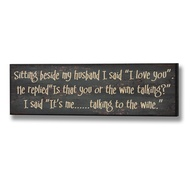 Wine  Talk  Plaque
