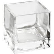 Small  Square  Glass  Tea  Light  Holder