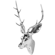 Silver  Medium  Stag  Head
