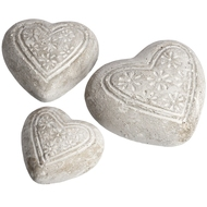 Set  Of  3  Patterned  Hearts