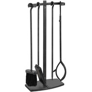 Black Brushed Steel Hook Top Companion Set