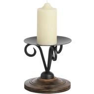 Wooden and Black Candle Holder
