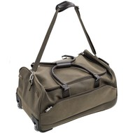 Mock  Nubuck  Holdall  W/  Trolley  Wheels  And  Telescopic  Handle