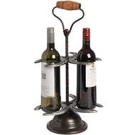 Horse  Shoe  3  Bottle  Wine  Rack