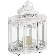 Antique  White  Octaganol  Lantern