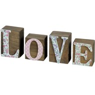 Floral  Love  Word  Block