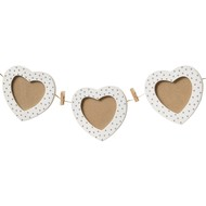3  Heart  Photo  Frame  On  Rope