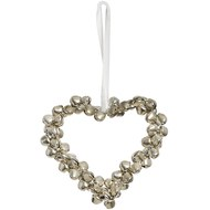 Silver  Heart  Decoration