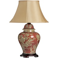 Asteria Gold on Red Pattern Ceramic Table Lamp