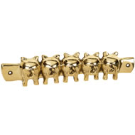 Solid Brass Pig Key Hook