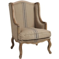 Fabric  Wing  Back  Armchair
