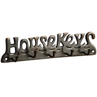 Antique Finish House Keys Key Rack