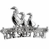 Silver  Home  Sweet  Home  Key  Rack
