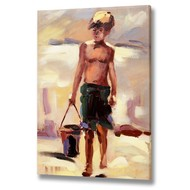 Boy  With  Bucket  Canvas