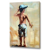 Boy  At  The  Seaside  Canvas