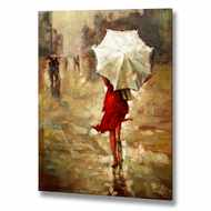 Lady  In  The  Rain  Canvas