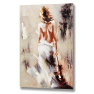 Posing  Lady  Handpainted  Canvas
