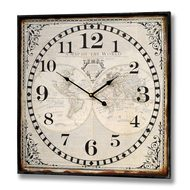 Square  World  Iron  Clock