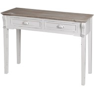New England Two Drawer Console Table