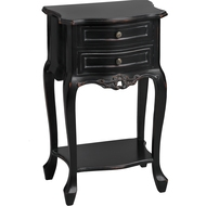Noir  Collection  2  Drawer  Lamp  Table
