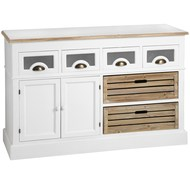 Hampshire  Kitchen  Sideboard  With  Glazed  Drawers