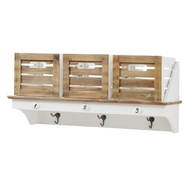 Hampshire  Wall  Unit  With  Hooks  And  3  Storage  Boxes
