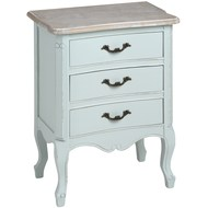 Duck  Egg  Blue  Three  Drawer  Bedside  Cabinet