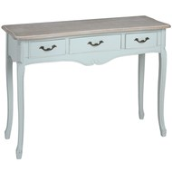 Duck  Egg  Blue  Three  Drawer  Console
