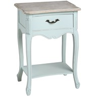 Duck  Egg  Blue  One  Drawer  Bedside  With  Shelf