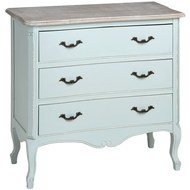 Duck  Egg  Blue  Three  Drawer  Chest
