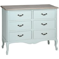 Duck  Egg  Blue  Six  Drawer  Chest