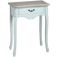 Duck  Egg  Blue  One  Drawer  Bedside  Table