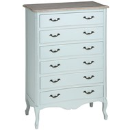 Duck  Egg  Blue  Six  Drawer  Large  Chest