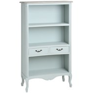 Duck  Egg  Blue  Two  Drawer  Display  Cabinet