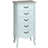 Duck Egg Blue five drawer tallboy