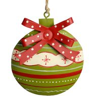 Hanging  Green  Bauble  Decoration