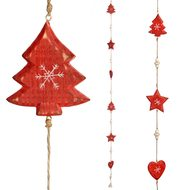 Wooden  Red  Ornament  String  Hanger
