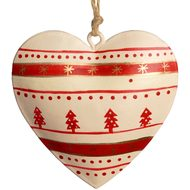 Cream  Tree  Heart  Decoration