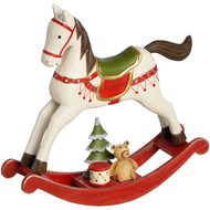 Wooden  Cream  Rocking  Horse
