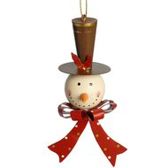 Hanging  Snowman  Head  Tree  Decoration