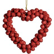 Red  Bell  Heart  Christmas  Decoration