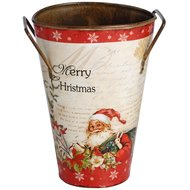 Vintage  Christmas  Tin  Bucket