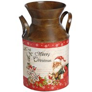 Vintage  Christmas  Milk  Churn