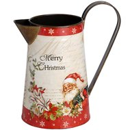 Vintage  Christmas  Tin  Jug