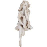 Cream seated fairy shelf sitter