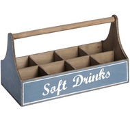 Wooden  'soft  Drinks'  Bottle  Crate  With  Handle
