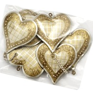 Gold  Heart  Metal  Wall  Hanger