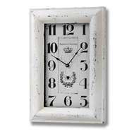 Shabby  Chic  Cream  Rectangular  Clock